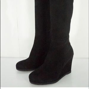 Stuart Weitzman Wedge Over The Knee Suede Boots